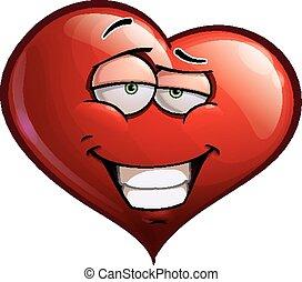 -, hart, zelfvoldaan, gezichten