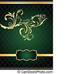 -, illustratie, pakking, vector, ontwerp, achtergrond, uitnodiging, floral, of