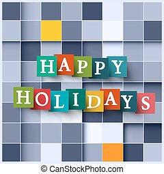 -, plein, papier, blokje, achtergrond, vrolijke , feestdagen