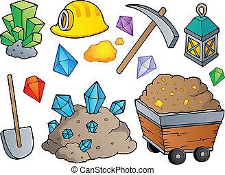 1, mijnbouw, thema, verzameling