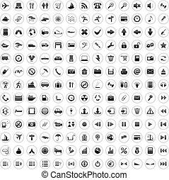 170, iconen, set