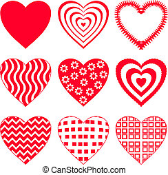 2, set, hart, valentijn