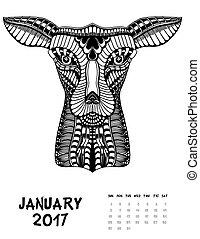 2017, pagina, kalender, maand
