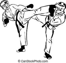 22, strijdlustig, sports(3).jpg, krijgshaftig, karate, kyokushinkai, schets, kunsten