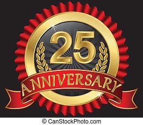25, jaren, gouden, jubileum