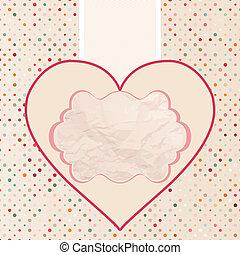 8, valentine, eps, kaart, template.