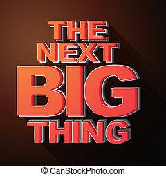 aankondiging, groot, spoedig, illustratie, volgende, ding, komst, 3d