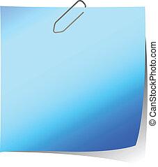 aantekening, blauwe , herinnering, illustratie