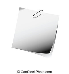 aantekening, grijs, herinnering, de klem van het document