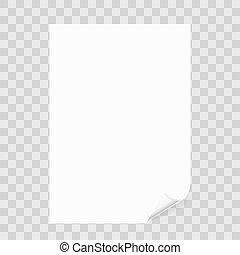 aantekening, schaduw, papier, blad, transparant