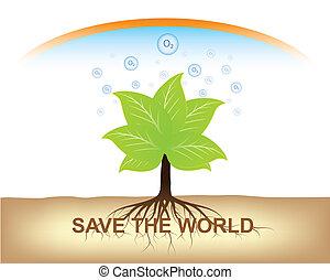 aarde, houden, boom wortel, grond