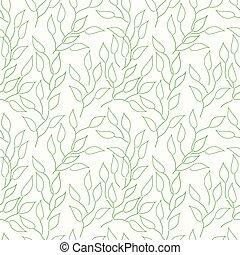abstract, bladeren, achtergrond, seamless, groene