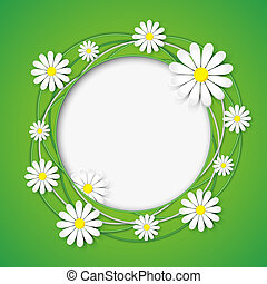 abstract, bloem, chamomile, achtergrond, creatief