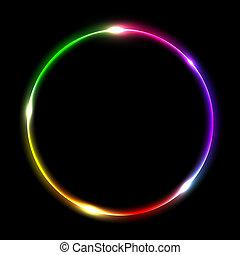 abstract, cirkel, veelkleurig
