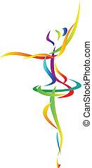 abstract, danser, ballet