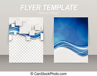 abstract, flyer, ontwerp, mal