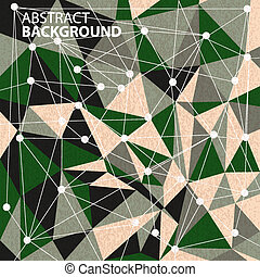 abstract, geometrisch, achtergrond, poligons