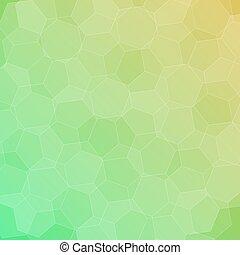 abstract, groen-geel, achtergrond, zeshoeken