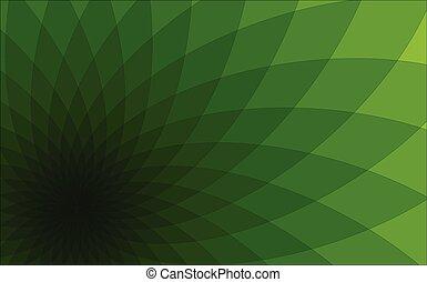 abstract, groene achtergrond, driehoeken