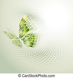 abstract, groene achtergrond, peuk