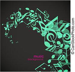 abstract, groene achtergrond, tunes.