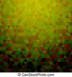 abstract, groene, driehoeken, achtergrond