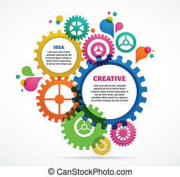 abstract, industriële vormgeving, kleurrijke, achtergrond