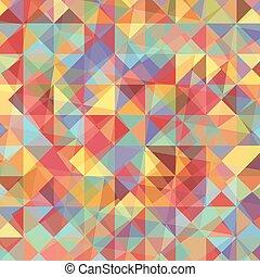 abstract, kleurrijke, achtergrond, driehoeken