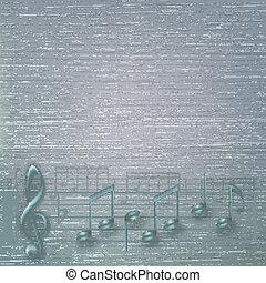 abstract, muziek, gebarsten, achtergrond