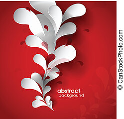 abstract, papier, achtergrond, flower.
