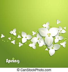 abstract, papier, bloemen