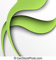 abstract, papier, groene achtergrond