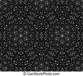 abstract, pattern., seamless, stars., luxe, achtergrond, zilver