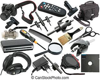 abstract, set, black , voorwerpen