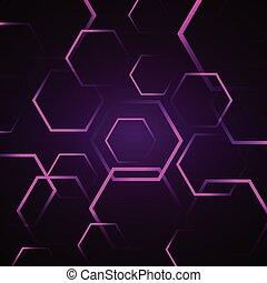 abstract, zeshoek, achtergrond, viooltje