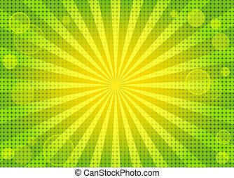 achtergrond, abstract, groene, helder, w