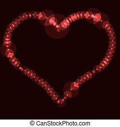 achtergrond., abstract, valentijn