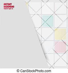 achtergrond., abstract, vector, pleinen, witte