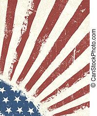 achtergrond., amerikaan, grunge, vlag, vector.