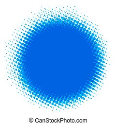 achtergrond., blauwe , dotted, abstract, halftone