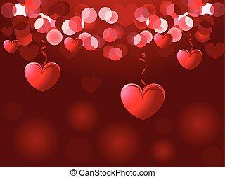 achtergrond., dag, valentines, vector