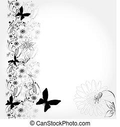 achtergrond, floral