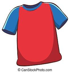 achtergrond, rood wit, hemd