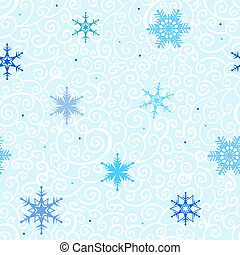 achtergrond., snowflakes, seamless, vector