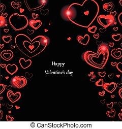 achtergrond, valentine., dag