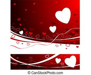 achtergrond, valentine, rood, dag