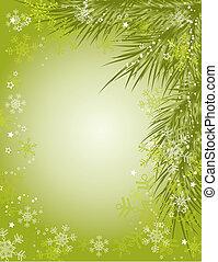 achtergrond, vector, kerstmis