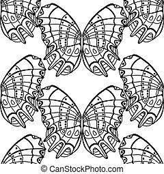 achtergrond, vlinder