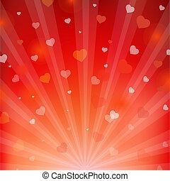 achtergronden, hartjes, balken