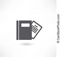 af)knippen, oud, vrijstaand, boek, achtergrond, steegjes, witte , open
